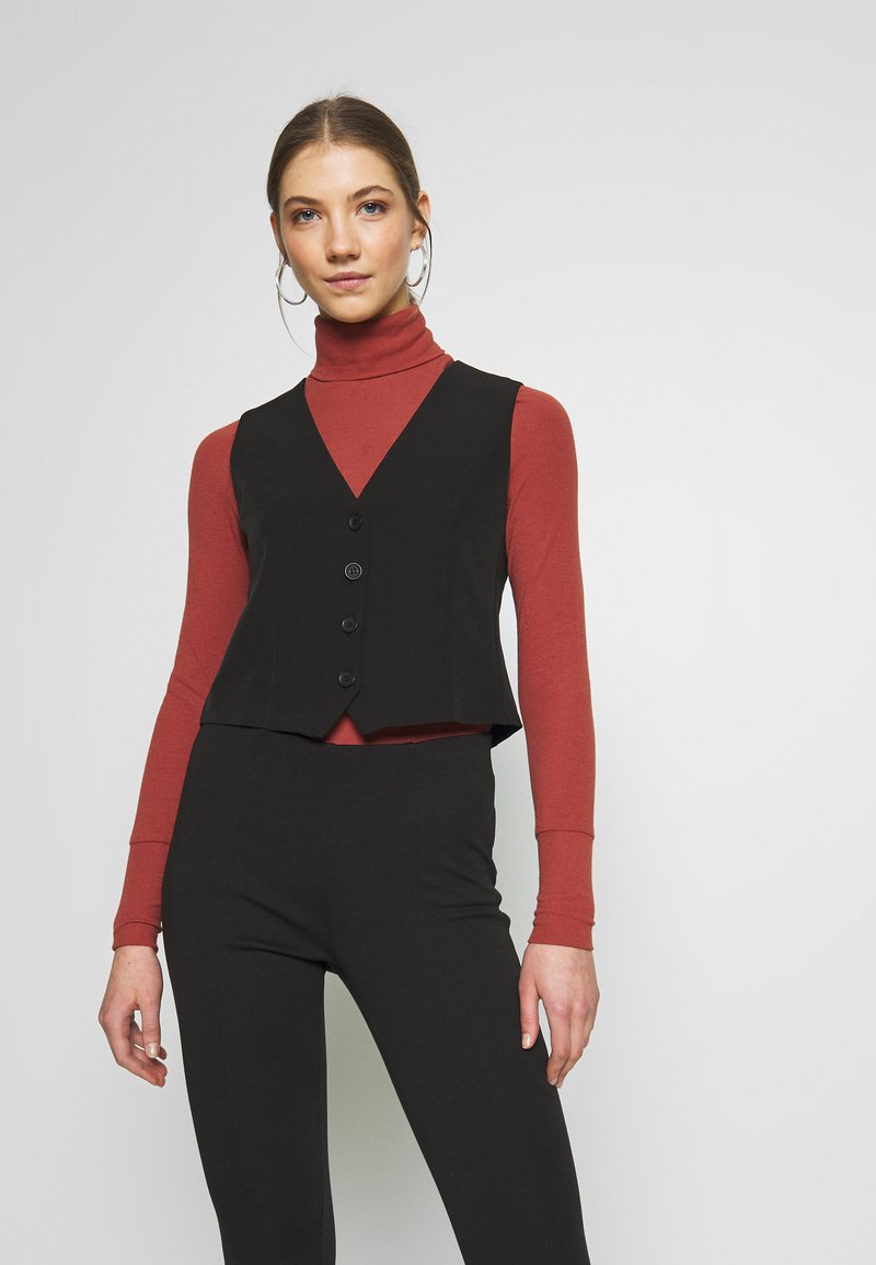 New Look - FITTED WAISTCOAT - Blouse - black