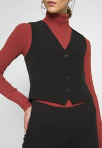 New Look - FITTED WAISTCOAT - Blouse - black - 4