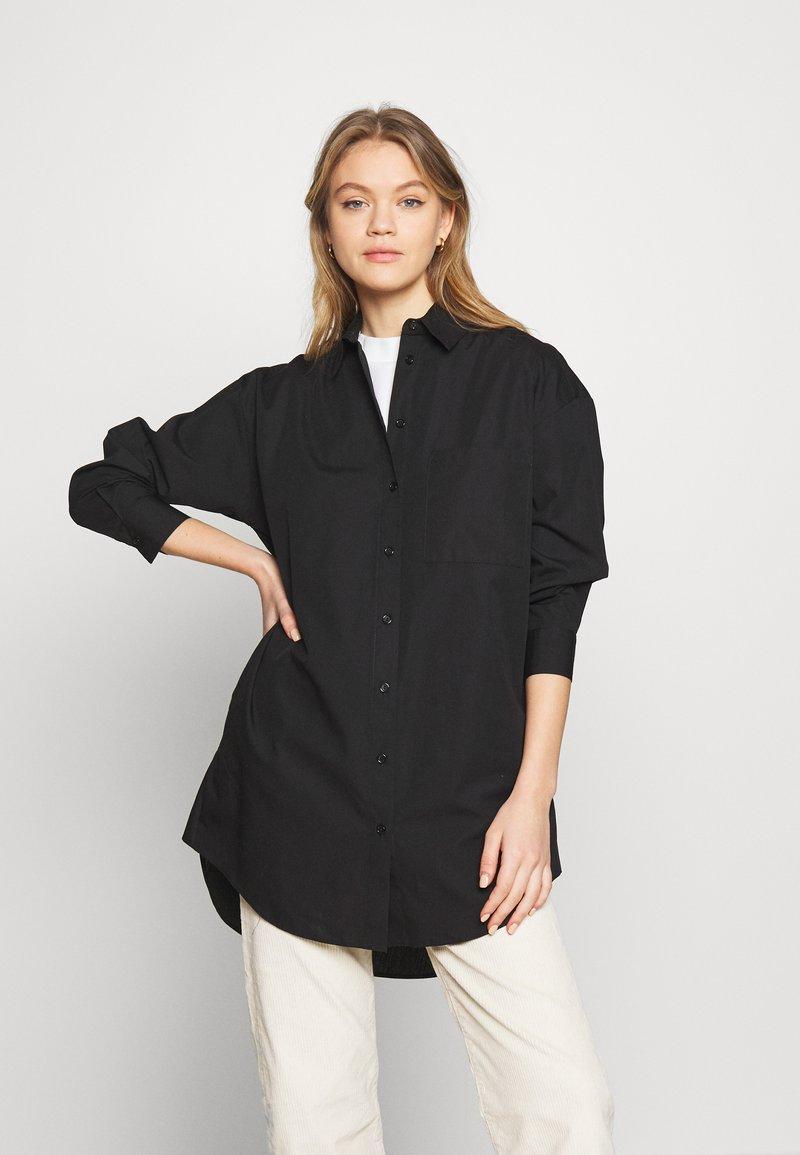 New Look - LENNY LONGLINE - Hemdbluse - black