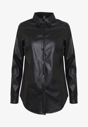 PEYTON - Button-down blouse - black