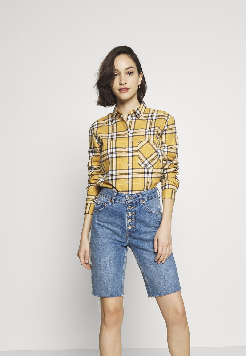 New Look - STANLEY MUSTARD CHECK - Blouse - yellow