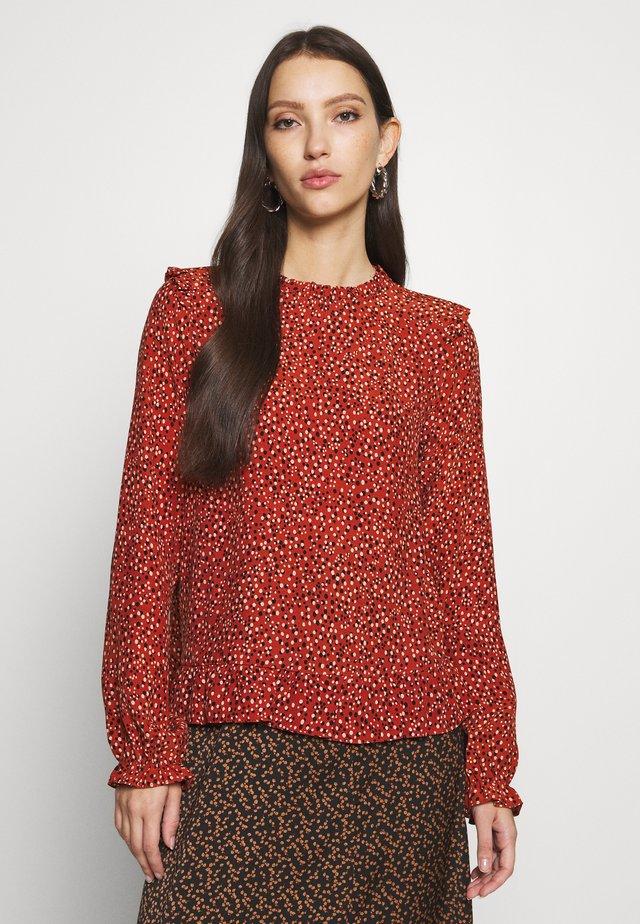 LUCY SPOT SHAPE - Bluzka - brown pattern