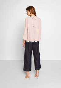 New Look - PLAIN  PLEATED TIE BACK - Blouse - pale pink - 2