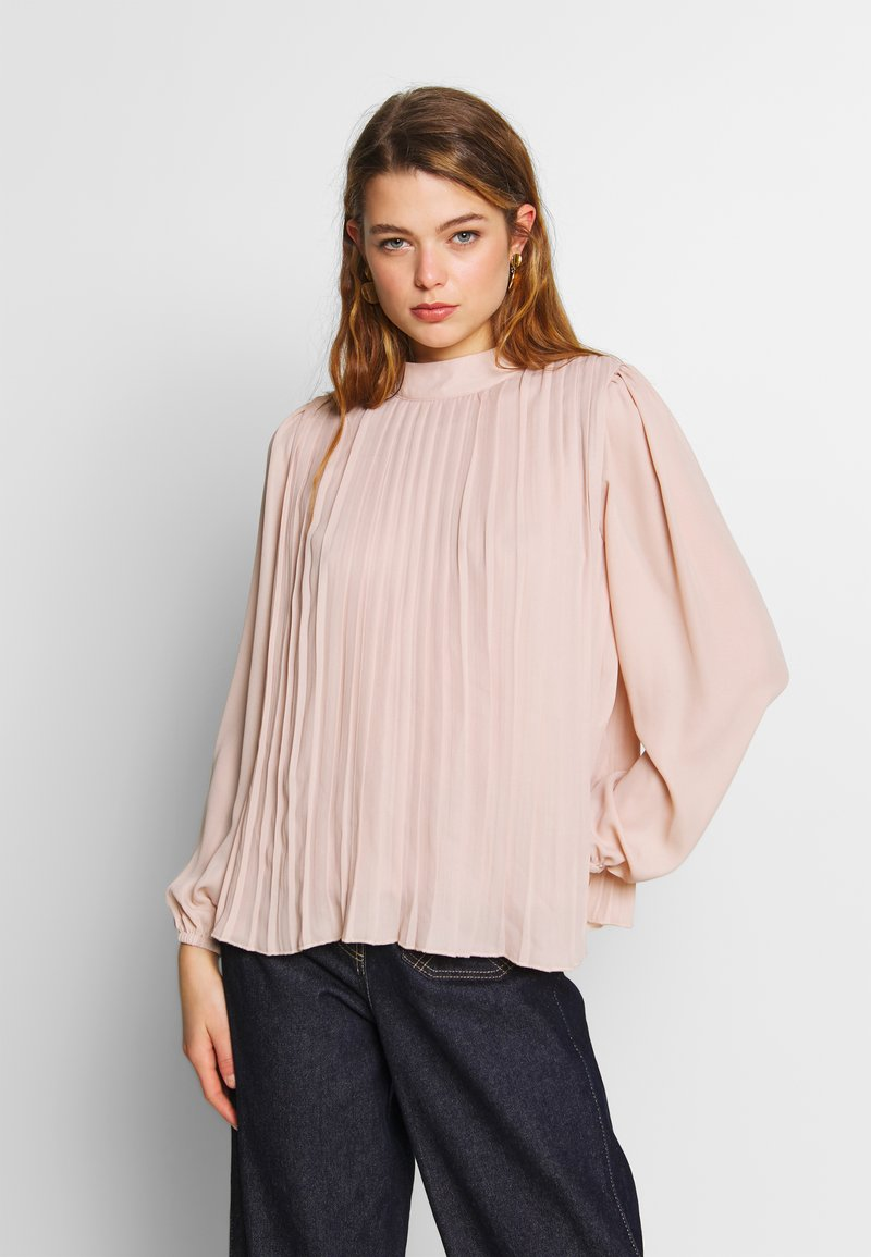 New Look - PLAIN  PLEATED TIE BACK - Blouse - pale pink