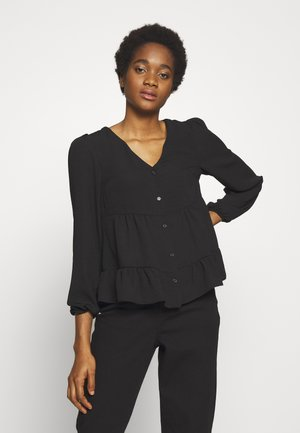TIERED BUTTON THROUGH BLOUSE - Blouse - black