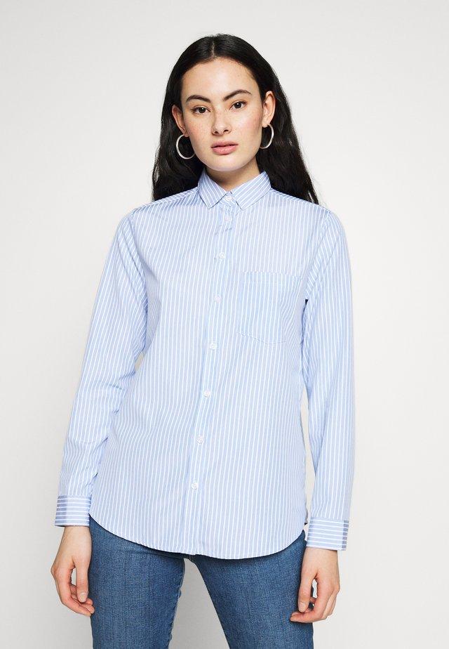 HARVEY STRIPE SHIRT - Button-down blouse - blue