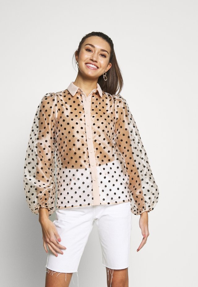 ORGANZA SPOT - Button-down blouse - cream