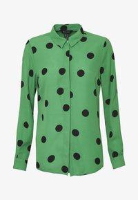 New Look - SPOT SHIRT - Button-down blouse - green - 4