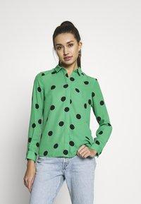 New Look - SPOT SHIRT - Button-down blouse - green - 0