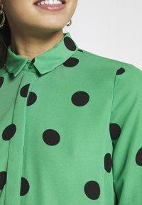 New Look - SPOT SHIRT - Button-down blouse - green - 5