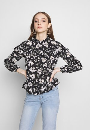 DAISY PIE CRUST FRILL - Blusa - black