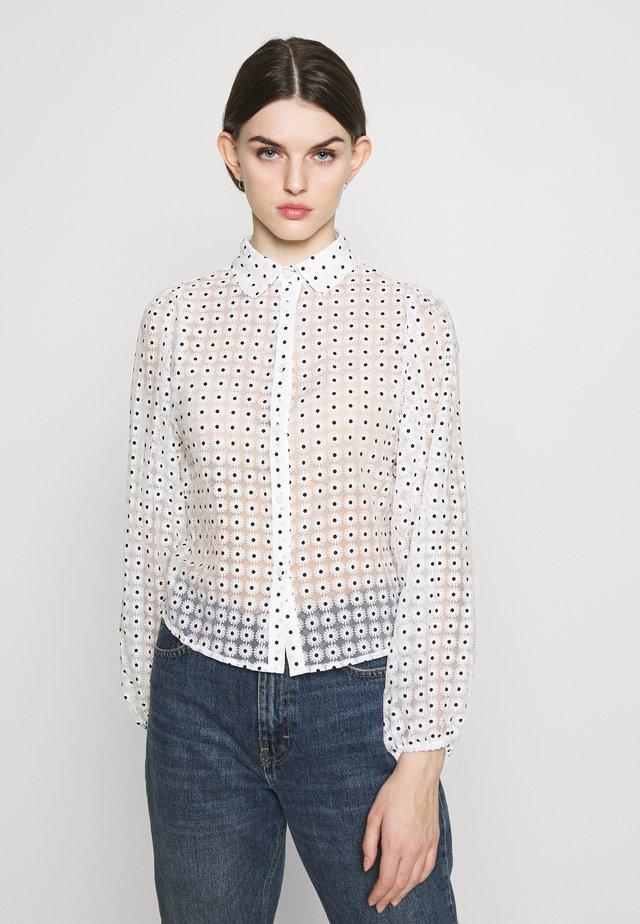 DAISY - Button-down blouse - white pattern