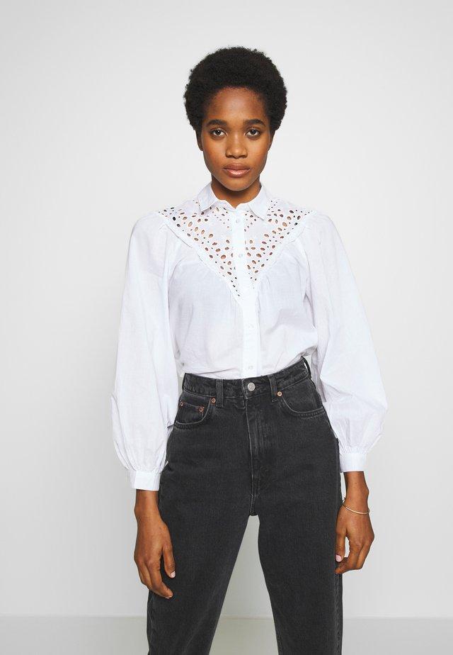 MAX CUTWORK  - Button-down blouse - white