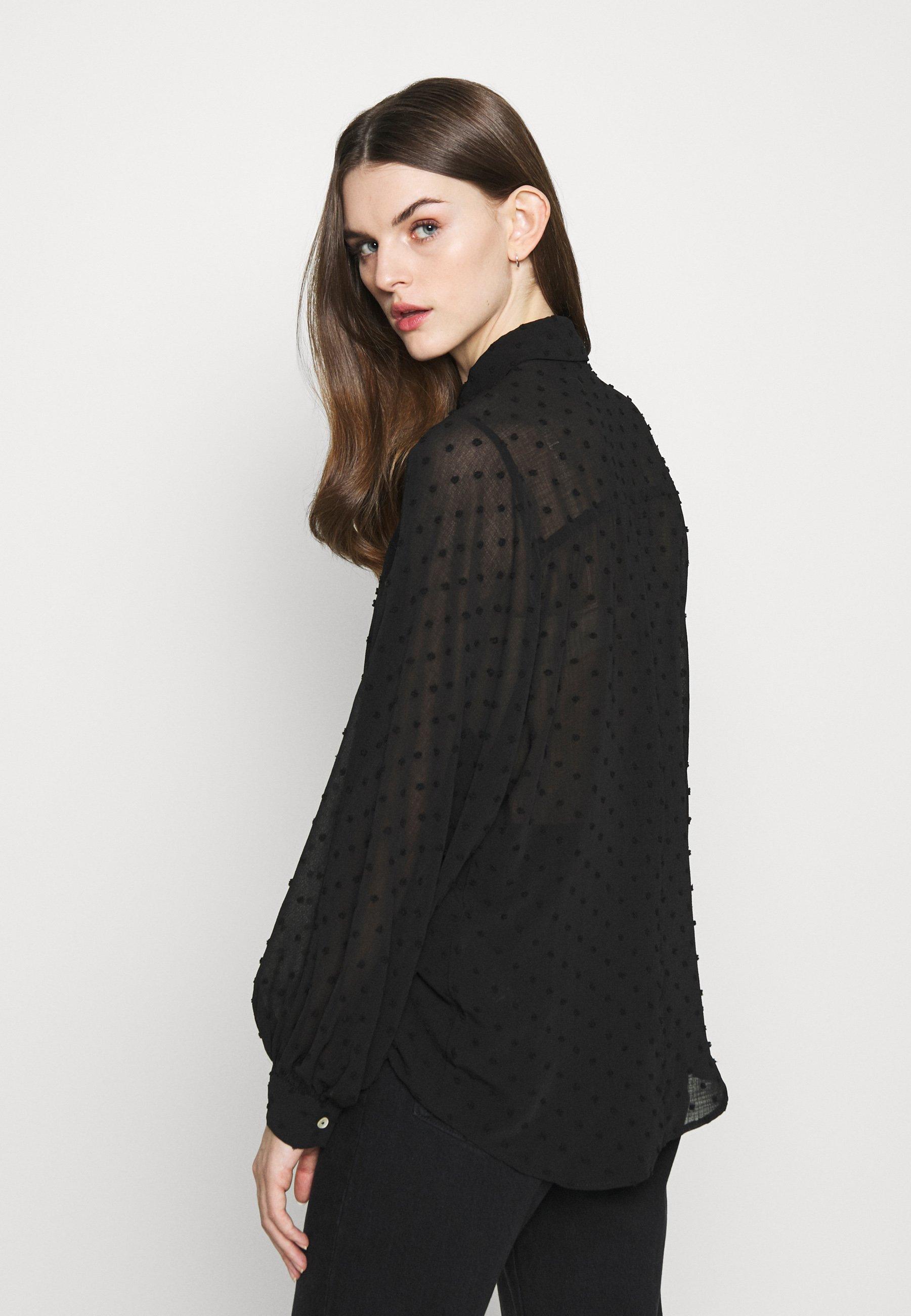 New Look DOBBY BLOUSON - Bluser - black