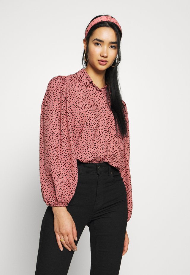 MAGGIE MAE BLOUSE - Button-down blouse - black