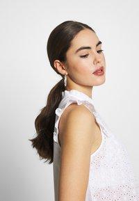 New Look - SUNNY CUTWORK PIECRUST SHELL - Bluser - white - 4