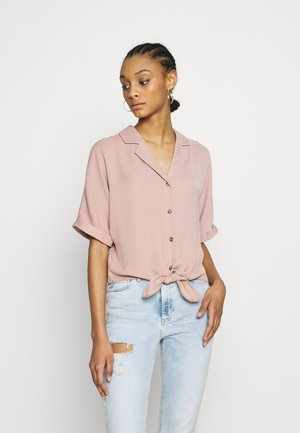 TRINNY TIE FRONT SHELL - Button-down blouse - pale pink