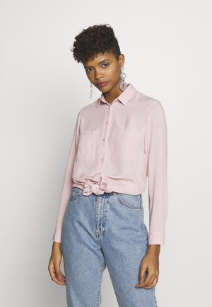 TOMMY TIE FRONT - Button-down blouse - pale pink