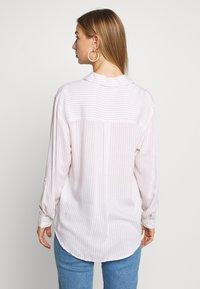 New Look - REX STRIPE - Button-down blouse - white - 2