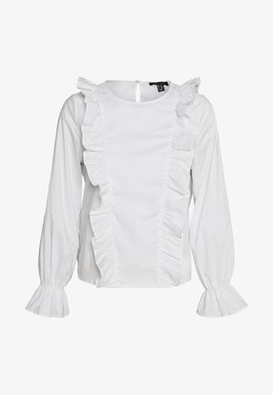 POPPY FRILL FRONT SHELL - Blouse - white