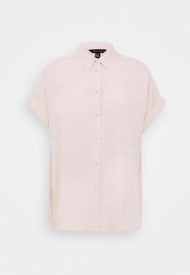 Button-down blouse - mid pink