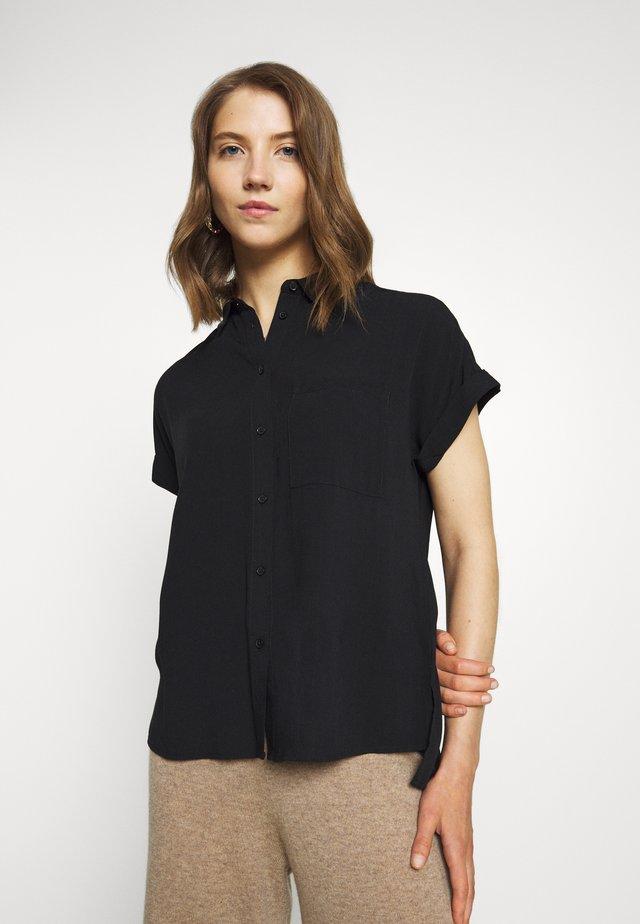 JAKE - Button-down blouse - black