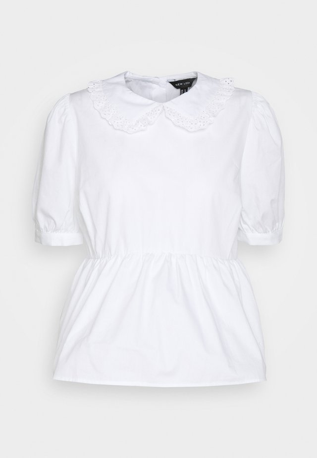 HALLIE COLLAR  - Blouse - white