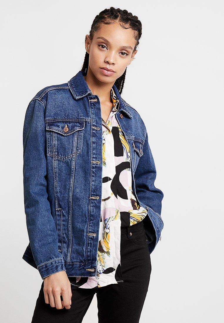 New Look - JACKET PEACHY - Denim jacket - mid blue