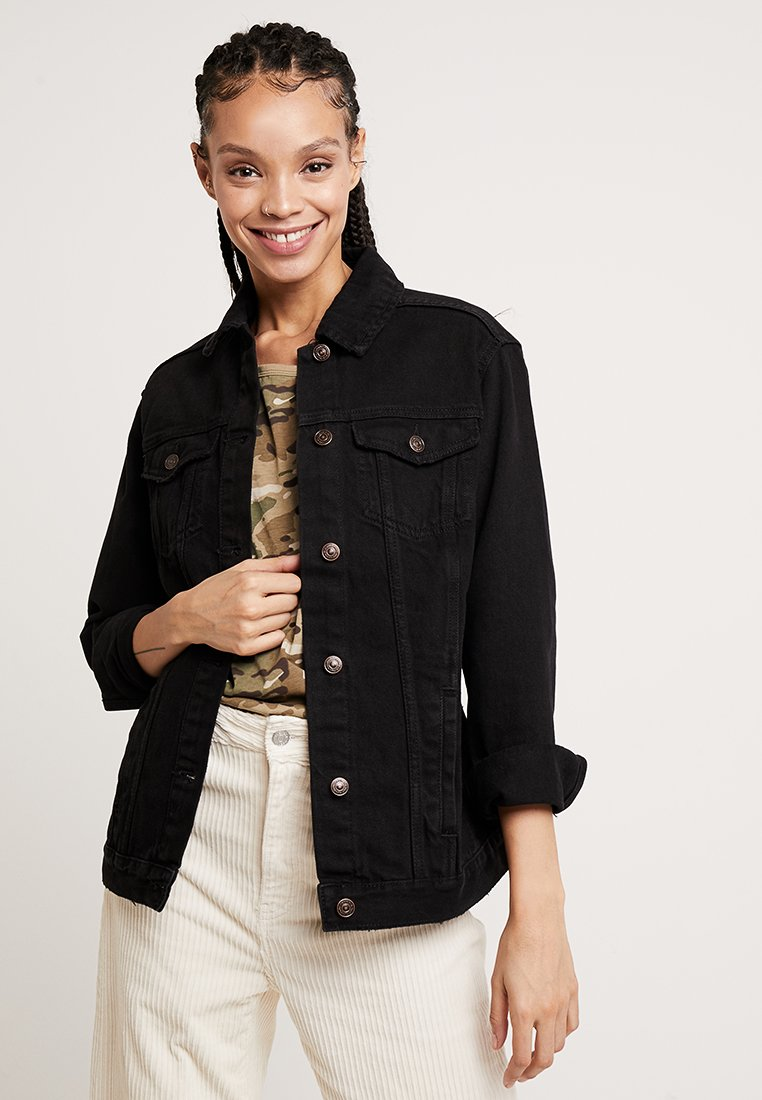 New Look - JACKET PEACHY - Denim jacket - black
