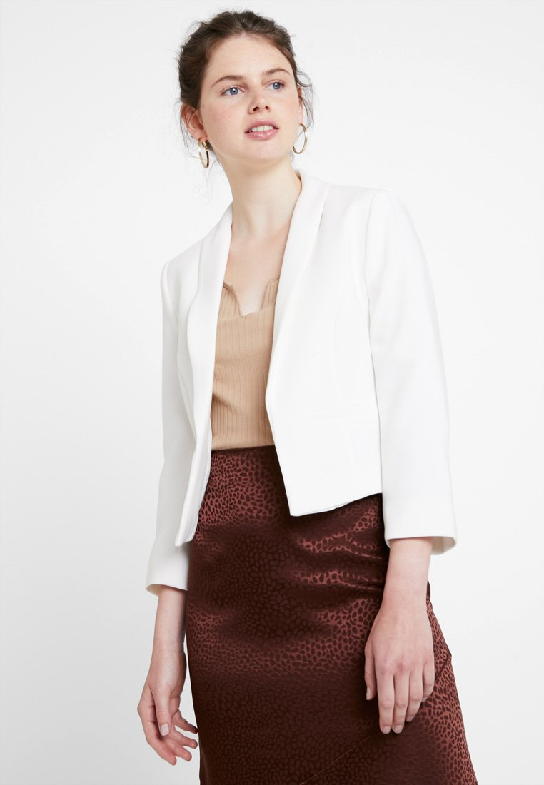 New Look - HARPER CROP - Blazer - white