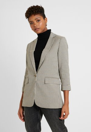 MICRO CHECK - Blazer - black