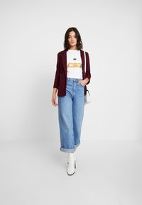 New Look - CROSS STRETCH - Blazer - dark burgundy - 1