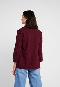 New Look - CROSS STRETCH - Blazer - dark burgundy - 2