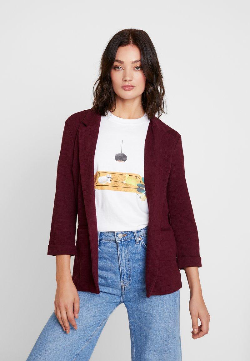 New Look - CROSS STRETCH - Blazer - dark burgundy