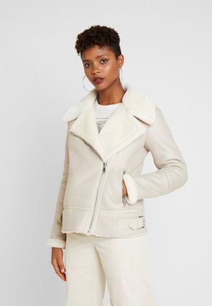 CHRISSY AVIATOR - Giacca in similpelle - off-white