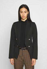 New Look - UTILITY BUTTON - Blazer - black - 0