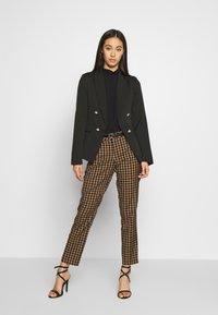 New Look - UTILITY BUTTON - Blazer - black - 1