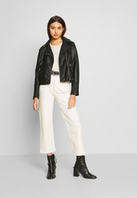 New Look - VERBENA QUILTED BIKER - Keinonahkatakki - black - 1