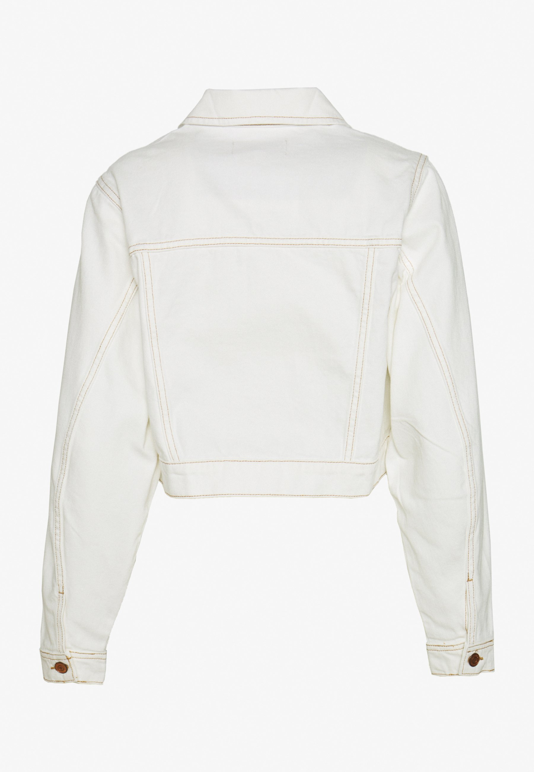 New Look MISSY CROP JACKET - Giacca di jeans - off white 4KuBPE5n