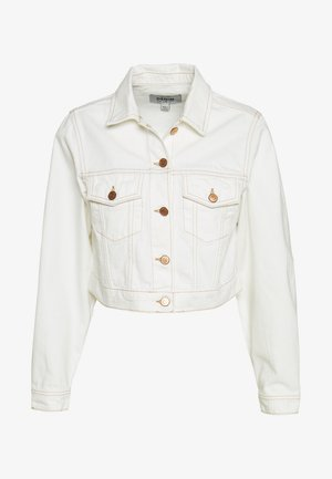 MISSY CROP JACKET - Jeansjacka - off white