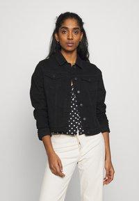New Look - ELLIOT LEAD IN JACKET - Denim jacket - black - 0