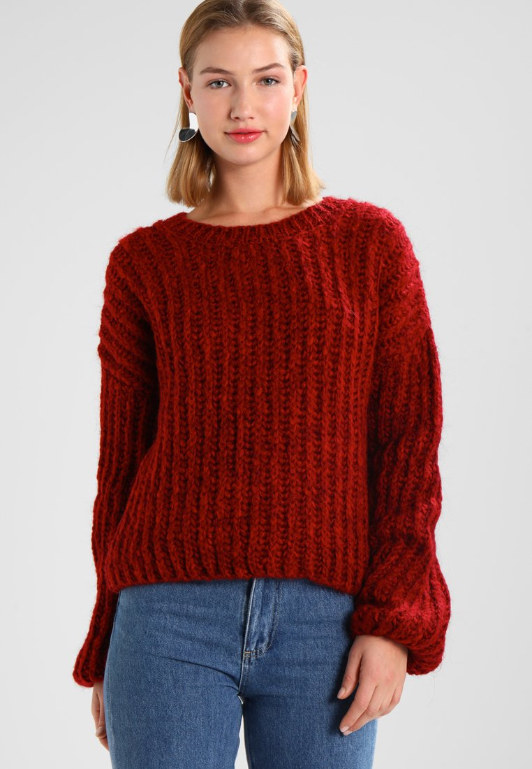 New Look - SLOUCHY  - Strickpullover - red