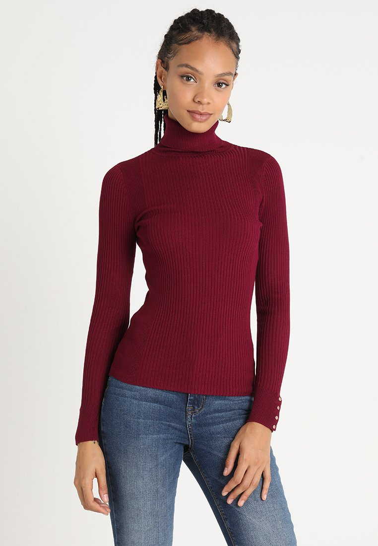 New Look - ROLL NECK - Strickpullover - burgundy