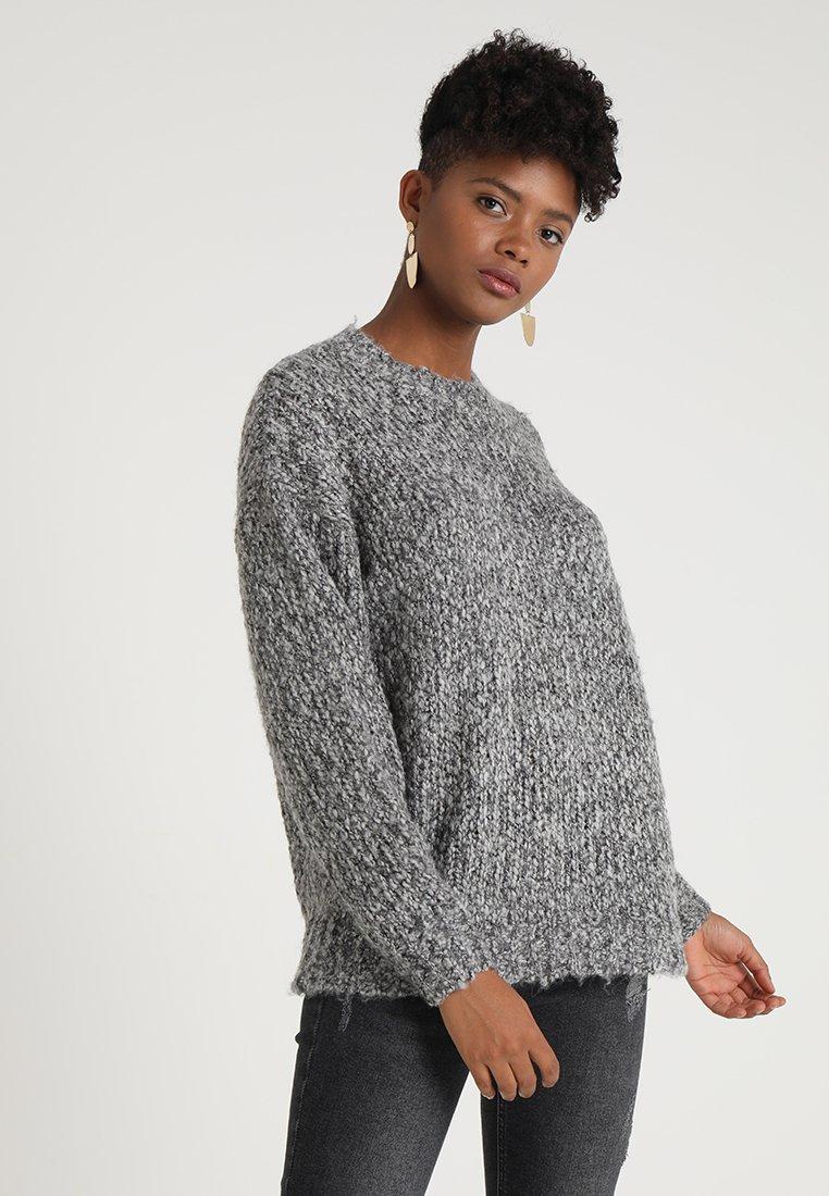 New Look - TWIST JUMPER - Strickpullover - dark grey