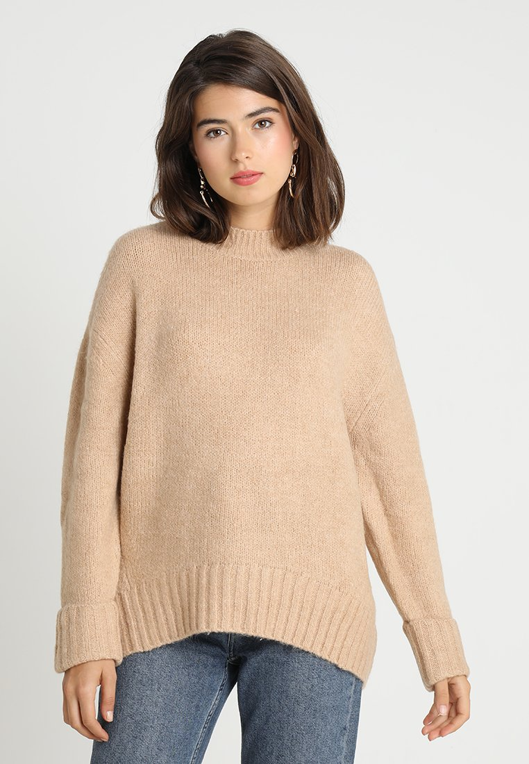 New Look - SLOUCH YARN JUMPER  - Pullover - camel
