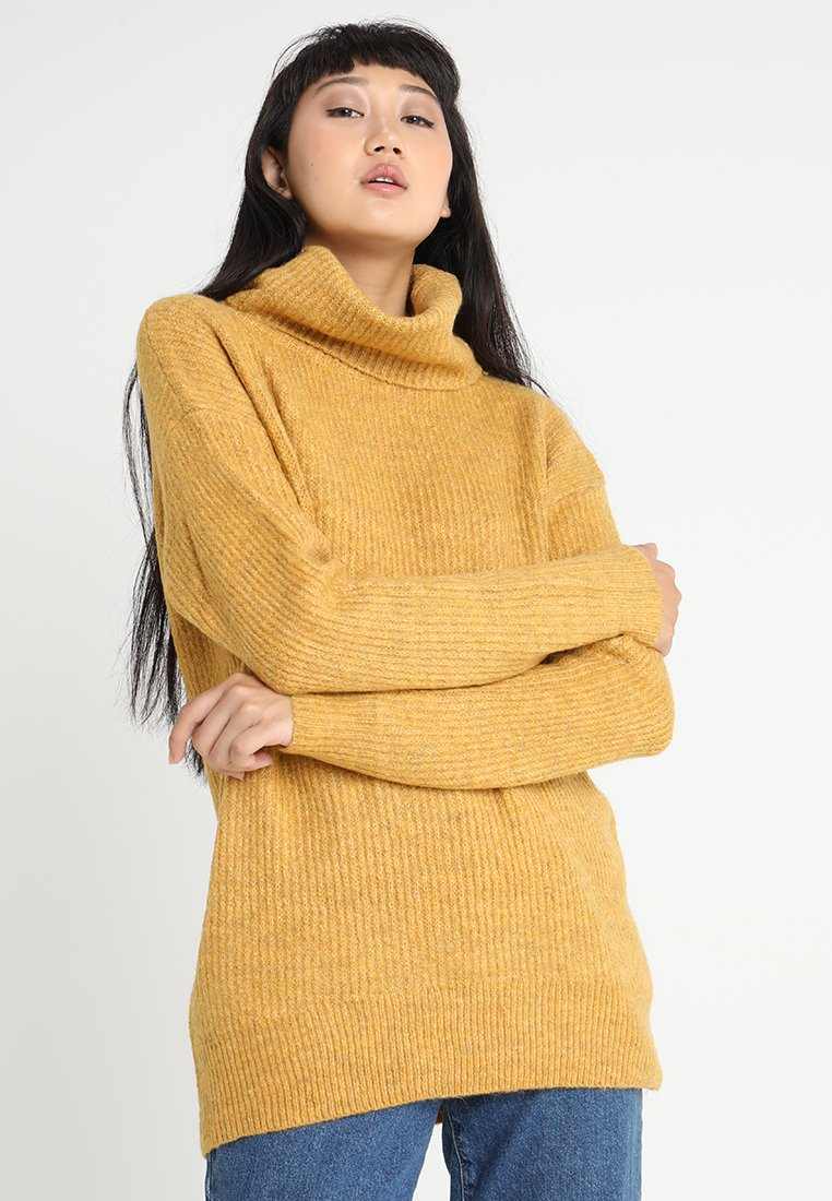 New Look - ROLL NECK SLOUCH - Strickpullover - ochre