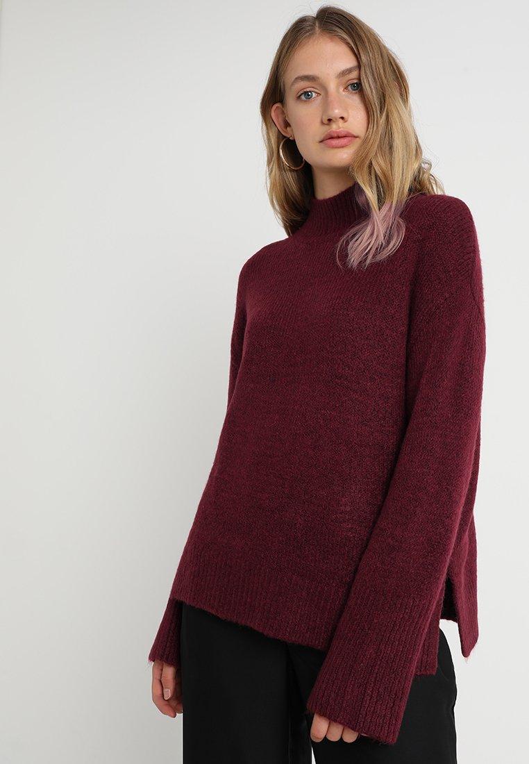 New Look - WIDE SLEEVE - Strickpullover - burgundy