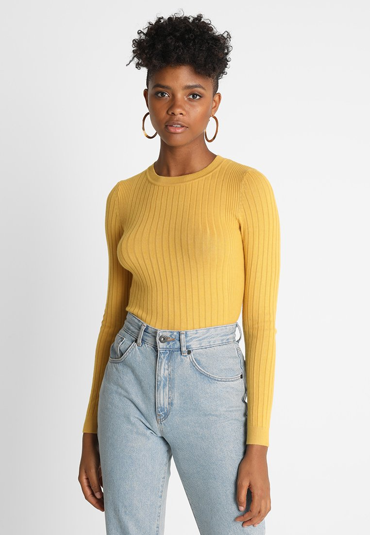 New Look - FINE GAUGE CREW - Jumper - ochre