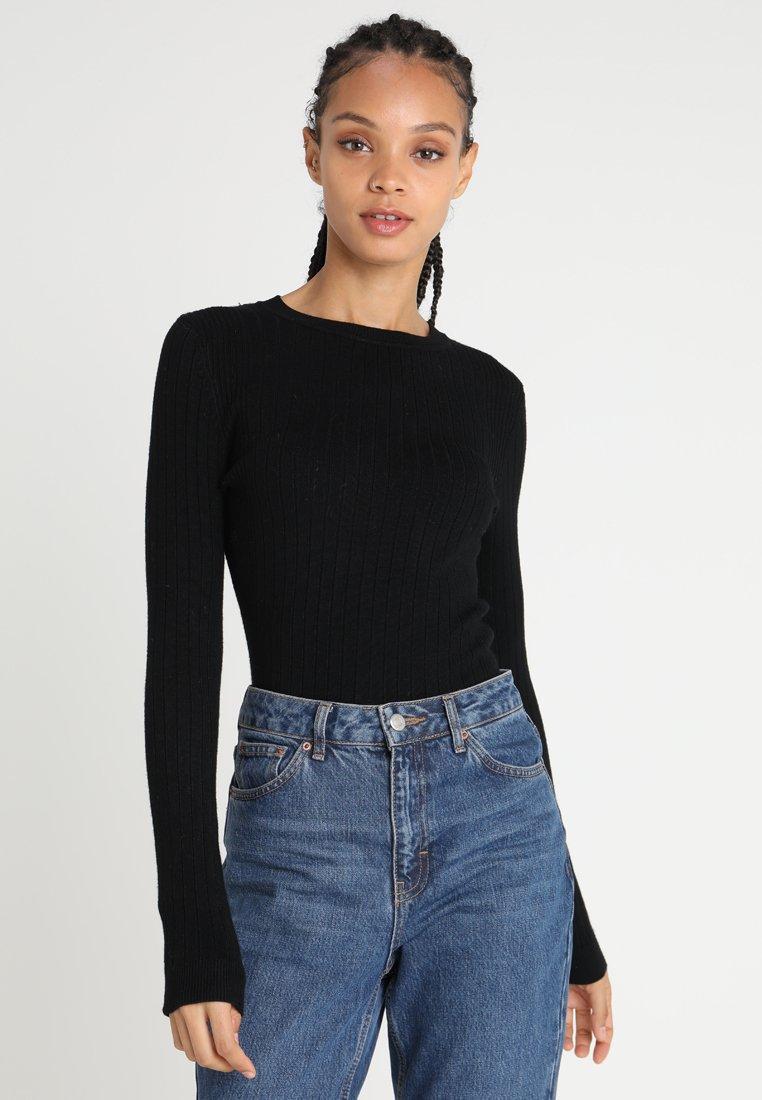 New Look - FINE GAUGE CREW - Strickpullover - black