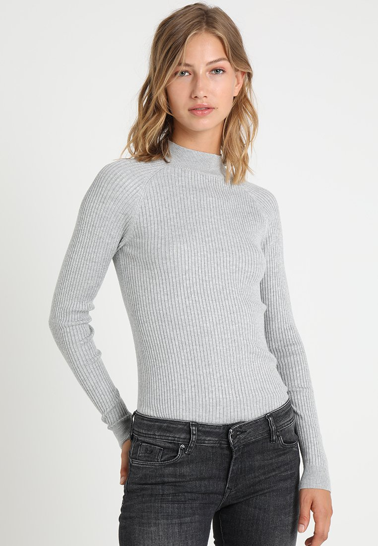New Look - STAND NECK - Jumper - grey